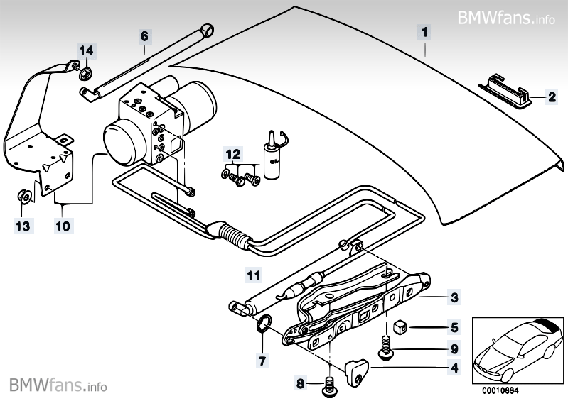 Bmw Trunk Lid Hydraulic Fluid