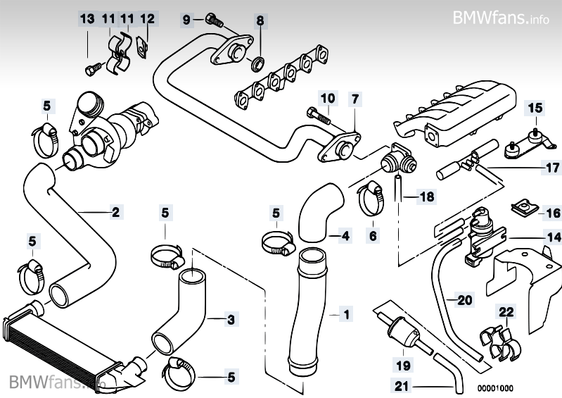 intake manifold duct agr bmw 3 39 e36 325tds. Black Bedroom Furniture Sets. Home Design Ideas