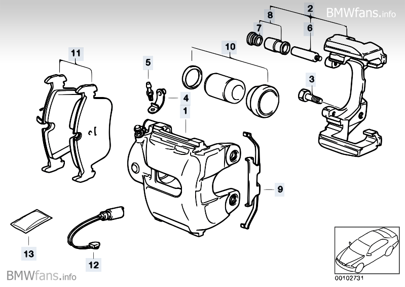 solid brake bushings - z4-forum.com rear caliper diagram 1997 jeep tj rear wiper diagram