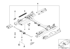 BMW sports seat seat rail mechanical