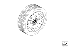 Winter complete wheel V spoke 54
