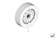 Winter complete wheel Y spoke 80