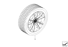 Radial spoke 50 complete winter wheel