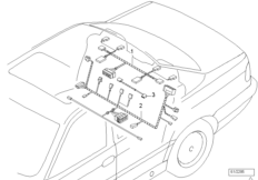 Rear seat wiring set