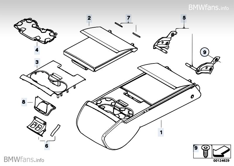 Rear Seat Centre Armrest Bmw 5 E60 M5 S85