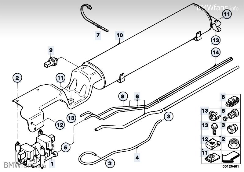 Levelling Device Pressure Accumulator Bmw X5 E53 X5 4 8is