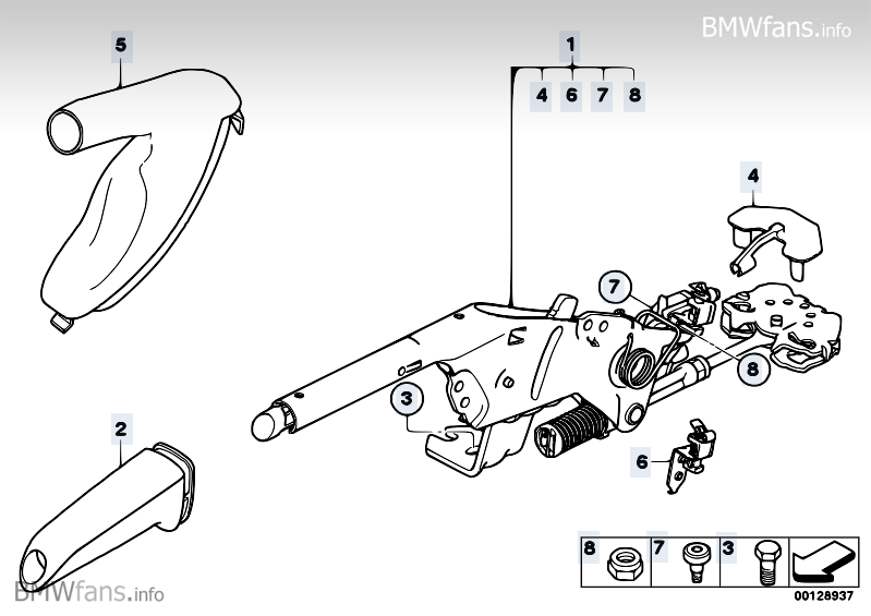 Handbrake Lever Bmw 5 E60 M5 S85 Bmw Parts Catalog