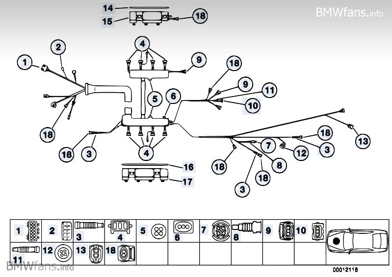 Parts Engine Module Wiring Harness Bmw 5' E39 540i M62 \u2014 Rh2009bmwfansinfo: Bmw M62 Wiring Diagram At Gmaili.net
