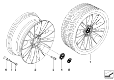 BMW LA wheel/double spoke 116
