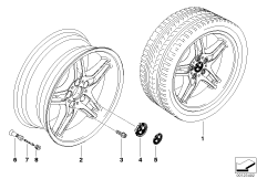 BMW LA wheel/double spoke 125