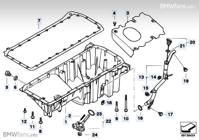 [BMW 525 d E60] Bouchon de vidange MTM2NDI0X3A=