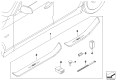 Illuminated door sill strip retrofit kit