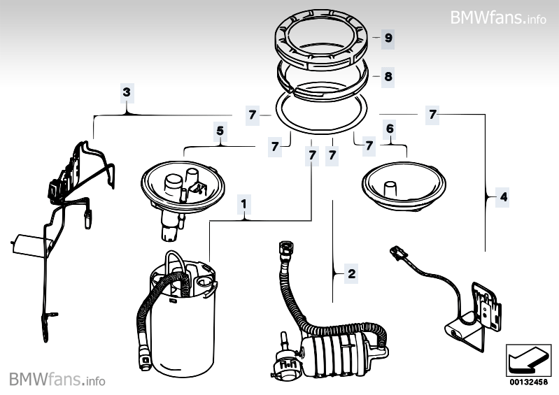 Fuel Filter Pump Fuel Level Sensor Bmw X3 E83 X3 2 5i