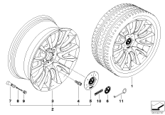 BMW LA Individual wheel V-spoke 152