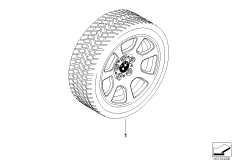 Winter complete wheel trapezoid spoke134