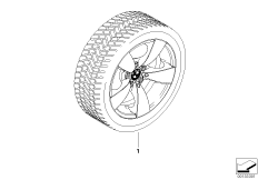 Winter complete wheel star spoke 138