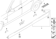 M door sill trim panel