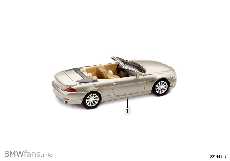 6er cabrio miniatures bmw accessories catalog. Black Bedroom Furniture Sets. Home Design Ideas