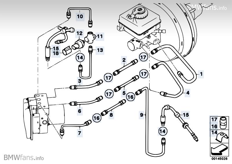 Brake Line Front S541a Bmw 5 E60 525i M54
