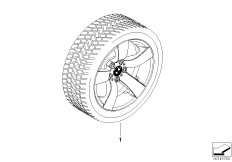 Winter complete wheel star spoke 122