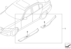 Door sill strip retrofit kit st. steel