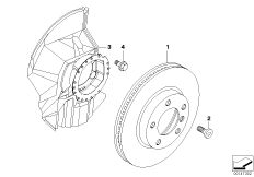Front brake-brake disc