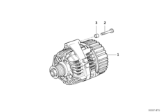 Compact alternator