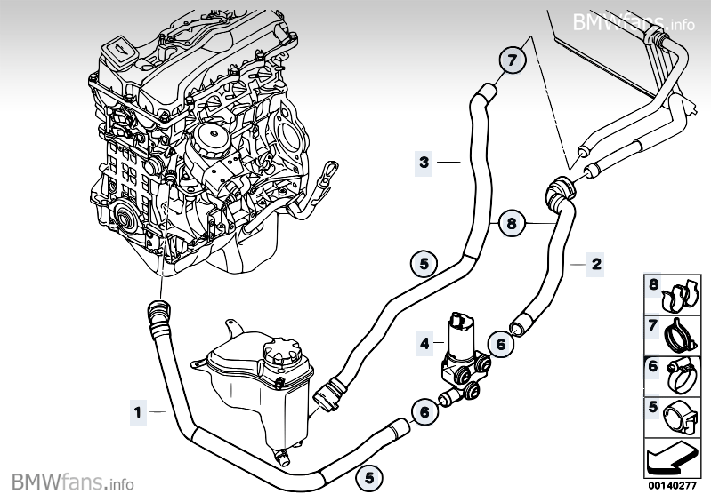 Additional Water Pumater Hosevalve Bmw 3' E90 325i N52 \u2014 Rh2009bmwfansinfo: Bmw E90 N52 Engine Diagram At Cicentre.net