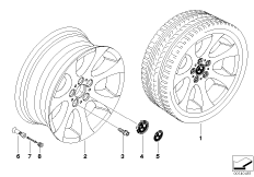 BMW LA wheel, ellipsoid styling 162