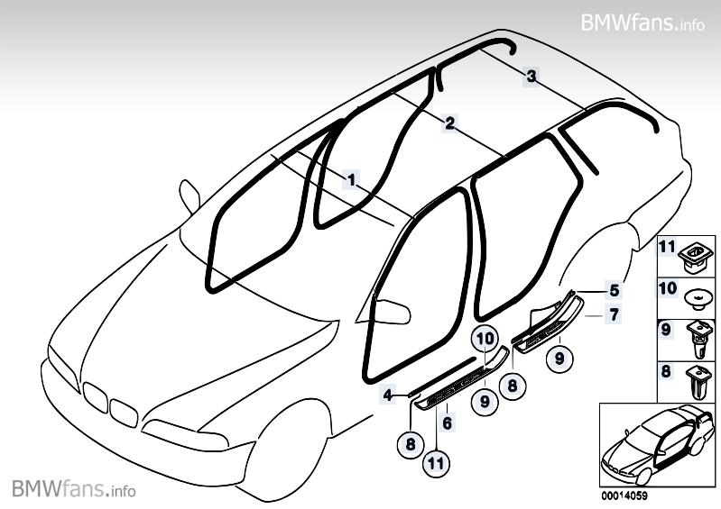 [BMW 520 d E39] Fuite d'eau importante aux portes arrières MTQwNTlfcA==