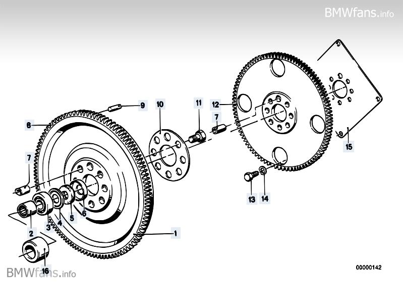 twin mass flywheel bmw 3 u0026 39  e30  320i  m20   u2014 bmw parts catalog