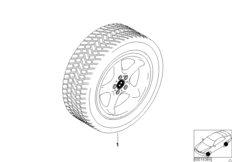 Winter complete wheel round-spoke styl.