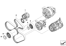 Belt drive-alternator/AC/power steering