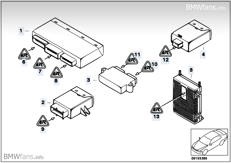 bmw mini body control module location