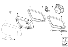 Mounting parts, outside mirror