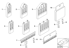 Various comb-type connectors