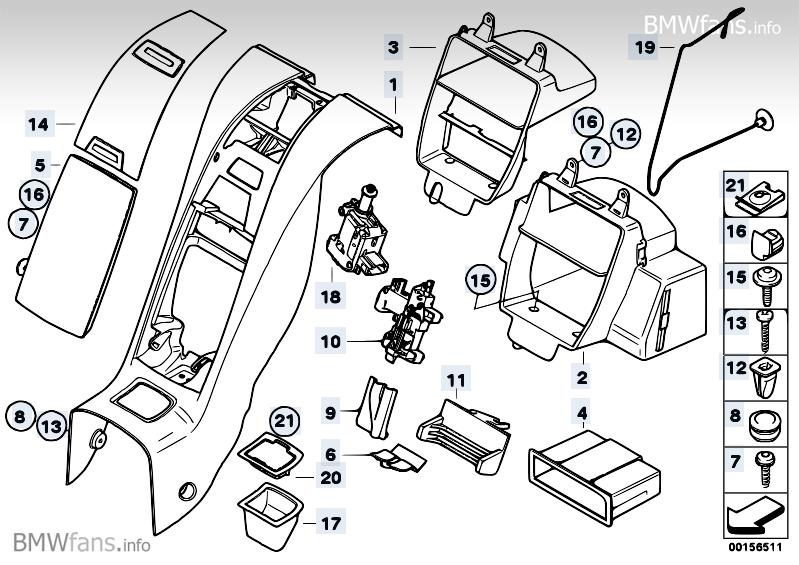 Centre Console Rear Cabin Bmw Z4 E85 Z4 3 0i N52