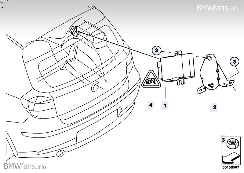 Control unit for fuel pump BMW X6 E71, X6 35iX (N54) — BMW parts catalog