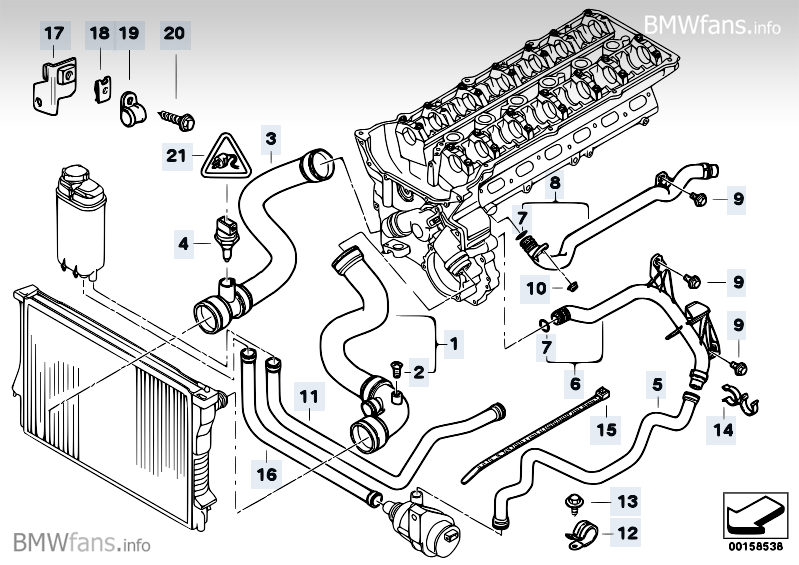 2000 bmw e39 cooling system diagram  2000  free engine
