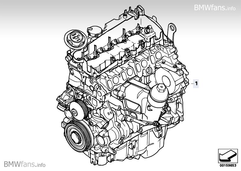 Short Engine BMW 3' E90 Facelift, 320d (N47) — BMW parts catalogBMW fans! - BMWfans.info