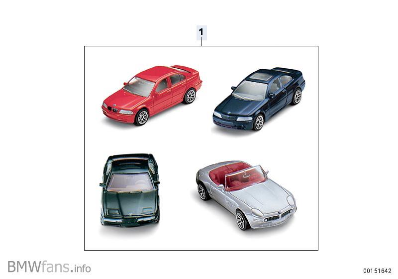 Bmw toy car set — accessories catalog