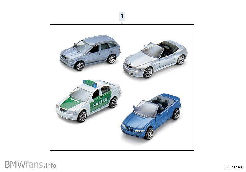 Bmw spielzeugautos set — accessories catalog