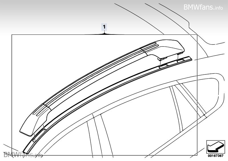 Retrofit Roof Rails Bmw X6 E71 X6 35dx M57n2 Bmw Parts Catalog