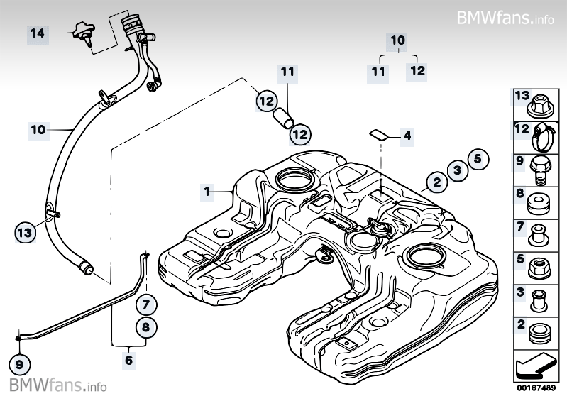 Fuel Tankmounting Parts Bmw X5 E70 X5 3 5d M57n2