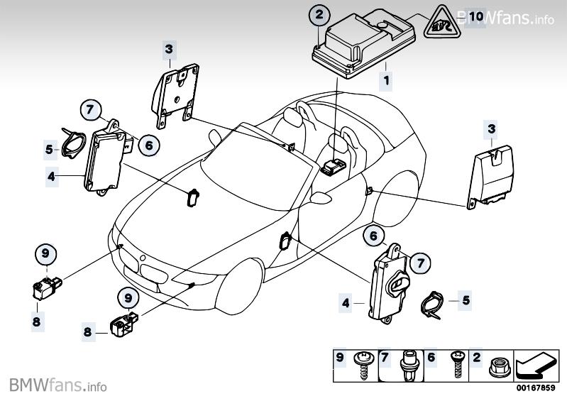 Electric Parts Airbag Bmw Z4 E85 Z4 3 0i M54 Bmw Parts Catalog