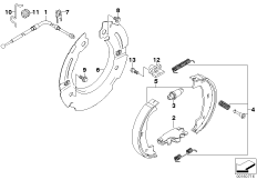 Parking brake/brake shoes