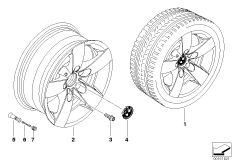 BMW LA wheel, start spoke 242