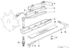 engine electrical system illustrations bmw 3 39 e36 318is. Black Bedroom Furniture Sets. Home Design Ideas