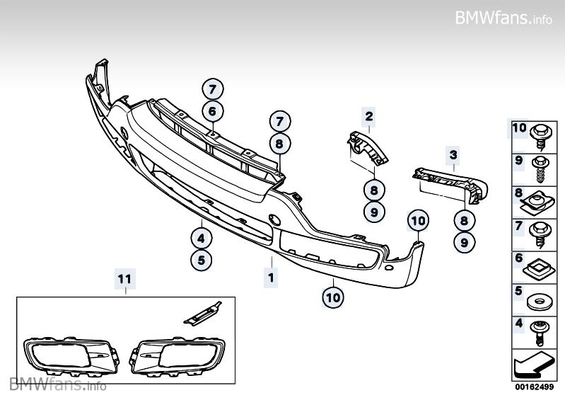 trim panel  bumper  front bmw x5 e70  x5 3 5d  m57n2   u2014 bmw parts catalog