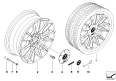 BMW LA wheel, individual, V-spoke 228